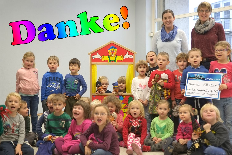 """Der Kindergarten St. Cyriak sagt der Harmonie Schapbach """"DANKE"""""""