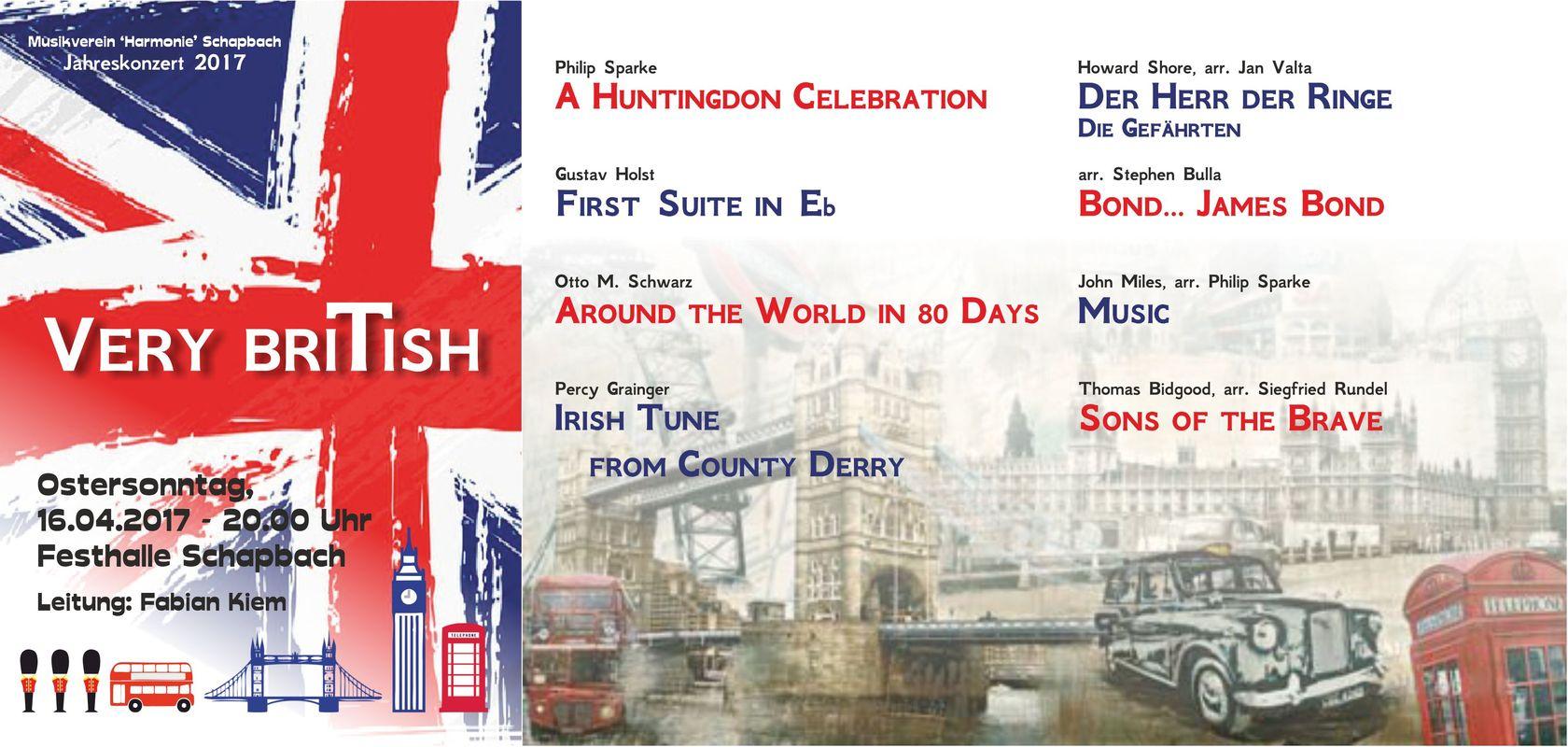 VERY BRITISH – Jahreskonzert 2017